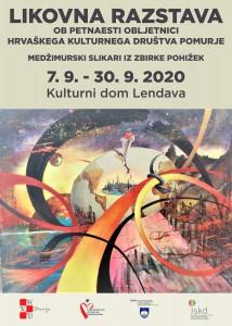 Plakat Likovna razstava 2020.